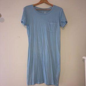 J CREW Baby Blue T-Shirt Dress